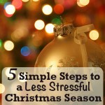 5 Steps to reduce stress this Christmas season