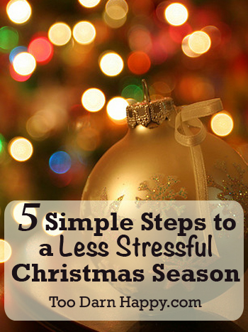 5 simple steps to less stressful Christmas