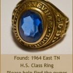 Help find the owner of this 1964 East TN Class Ring